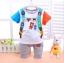 ชุดกางเกง เสื้อลายกระเป๋าเป้หมีน้อย+กางเกงสีเทา thumbnail 1