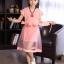 ชุดกระโปรงสีชมพู+ผ้าคาดเอว+สร้อยคอ thumbnail 3
