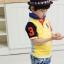 CI&SI เสื้อโปโลแขนสั้น 2 สี ข้างหน้าสีเหลือง ข้างหลังสีฟ้า thumbnail 3