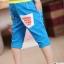 กางเกงขาสี่ส่วน สีฟ้า thumbnail 2