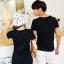 ชุดคู่รักสไตล์เกาหลี ลายโรนัลดัก สีดำ ชายเป็นเสื้อยืด หญิงเป็นเดรส น่ารักมากค่ะ thumbnail 6