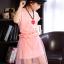 ชุดกระโปรงสีชมพู+ผ้าคาดเอว+สร้อยคอ thumbnail 4