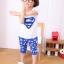 ชุดซุปเปอร์แมน เสื้อ+กางเกง สีน้ำเงิน thumbnail 1