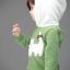 เสื้อแขนยาว สีเขียว ฮูดสีขาว ลายแมวเหมียว thumbnail 2