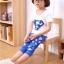 ชุดซุปเปอร์แมน เสื้อ+กางเกง สีน้ำเงิน thumbnail 3