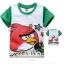 Millou เสื้อยืดแขนสั้น Angry birds สีขาว แขนสีเขียว thumbnail 1
