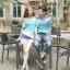 ชุดคู่รักแฟชั่นไสตล์เกาหลี เสื้อแขนเปิดไหล่ สีฟ้าน่ารัก + เสื้อยืดชาย ผ้านิ่ม ใส่สบายมาก ๆ thumbnail 3
