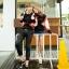 เสื้อแขนยาวคู่รัก ดำลายส้มสุดเก๋ thumbnail 3