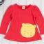 เสื้อแขนยาว สีแดง ลายหมีพูห์ thumbnail 3