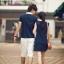 ชุดคู่รักสีกรมท่าคอปกขาว หญิงเป็นชุดมินิเดรสแขนกุด น่ารักมากๆค่ะ thumbnail 4