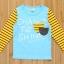CI&SI เสื้อแขนยาวสีฟ้า แขนลายทางสีเหลือง thumbnail 1
