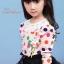 เสื้อแขนยาว สีชมพู คอระบายลูกไม้ thumbnail 2