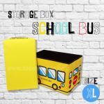 กล่องเก็บของพับได้สุดชิค STORAGE SCHOOL BUS ไซส์ XL