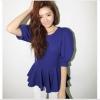C012  เสื้อทำงานสีน้ำเงิน แขนตุ๊กตา