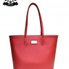 กระเป๋า Patola รุ่น M totebag หนังลิ้นจี่ สีแดง