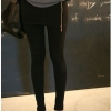 C005 มัลติเลคกิ้งสีดำบวกมินิ skirt