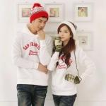 เสื้อกันหน้าวคู่รักแฟชั่นสไตล์เกาหลีเสื้อแขนยาวคอปกตั้ง น่ารักมาก