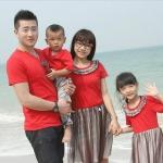 FD-043 เสื้อครอบครัวแฟชั่นสไตล์เกาหลี (3 ชุด)