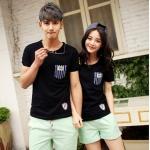 เสื้อคู่รัก สไตล์เกาหลี รหัส X231 (สีดำ)