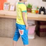 กางเกงขาสี่ส่วน สีฟ้า