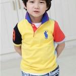CI&SI เสื้อโปโลแขนสั้น 2 สี ข้างหน้าสีเหลือง ข้างหลังสีฟ้า