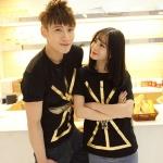 เสื้อคู่รัก สไตล์เกาหลี รหัส X103 (สีดำ)