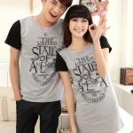 i525(สีเทา) เสื้อผ้าเเฟชั่น ชุดคู่รักแฟชั่นไสตล์เกาหลี
