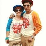 เสื้อกันหนาวคู่รัก แฟชั่นสไตล์เกาหลี สีสันสดใส น่ารักสุดๆ