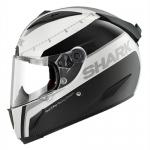 SHARK RACE-R PRO CARBON Racing Divis MAT/BRI White black silver