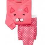 Baby Gap ลายแมวเหมียว สีชมพู