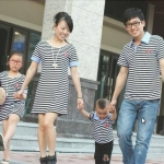 ชุดครอบครัวFDF-015 เสื้อครอบครัวแฟชั่นสไตล์เกาหลี (3 ชุด)
