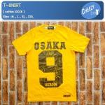 เสื้อยืดแฟชั่น ลายเท่ๆ แนวๆ ลายOSAKA9 สีเหลือง