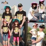 เสื้อครอบครัวน่ารักๆ ผ้ายืด ลายหัวเสือ +กางเกาง (3 ชุด)