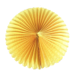 15 cm. พัดกระดาษ เหลือง
