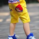 กางเกงขาสี่ส่วน Angry birds สีเหลือง