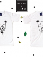 เสื้อยืดแฟชั่น ลายน่ารัก แนวๆ ลาย MR & MRS BEAR