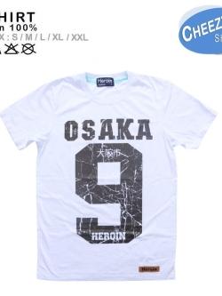 เสื้อยืดแฟชั่น ลายเท่ๆ แนวๆ ลายOSAKA9 สีขาว