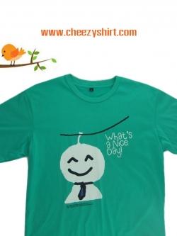 เสื้อยืดแฟชั่น ลายน่ารัก แนวๆ คู่รัก ลายตุ๊กตาไล่ฝนชาย
