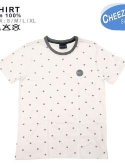 เสื้อยืดแฟชั่น ลายน่ารัก แนวๆ ลายจุด ขาว