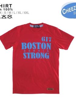 เสื้อยืดแฟชั่น ลายเท่ๆ แนวๆ ลายBOSTONแดง