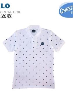 เสื้อโปโลแฟชั่น ลายจุดขาว