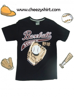 เสื้อยืดแฟชั่น ลายน่ารัก แนวๆ ลาย เบสบอล