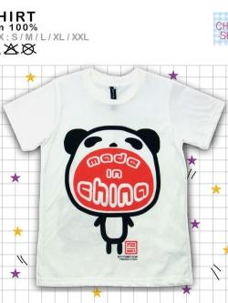 เสื้อยืดแฟชั่น ลายน่ารัก แนวๆ ลายMade in China