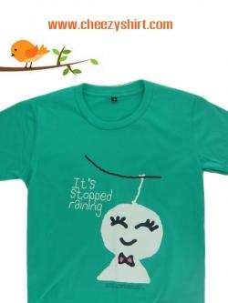 เสื้อยืดแฟชั่น ลายน่ารัก แนวๆ คู่รัก ลายตุ๊กตาไล่ฝนหญิง