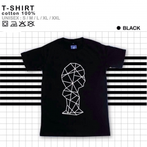 เสื้อยืดแฟชั่น ลายน่ารัก แนวๆ ลายเส้นสีดำ