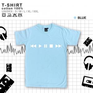 เสื้อยืดแฟชั่น ลายน่ารัก แนวๆ ลายPlay สีฟ้า