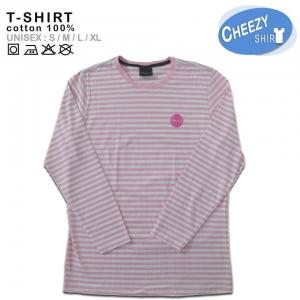(หมด)เสื้อลายทาง ลายขวาง แนวนอน สีชมพูริ้วเล็ก แขนยาว