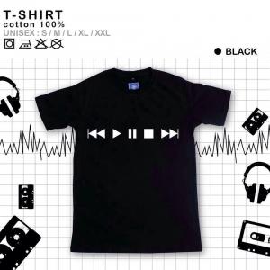 เสื้อยืดแฟชั่น ลายน่ารัก แนวๆ ลายPlay สีดำ