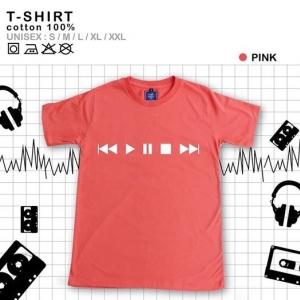 เสื้อยืดแฟชั่น ลายน่ารัก แนวๆ ลายPlay สีชมพู