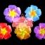 เทียนหอมลอยน้ำดอกชบา แพ็คถุงแก้ว ผูกเชือกพร้อมใบไม้ thumbnail 1